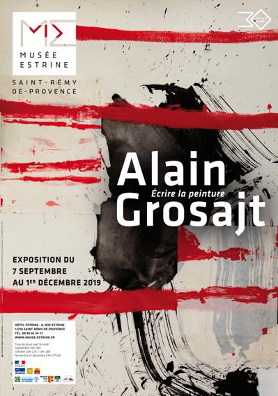 Alain Grosajt – Écrire la trace, suivre la peinture